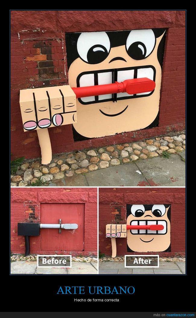 arte urbano,cepillo de dientes,graffiti