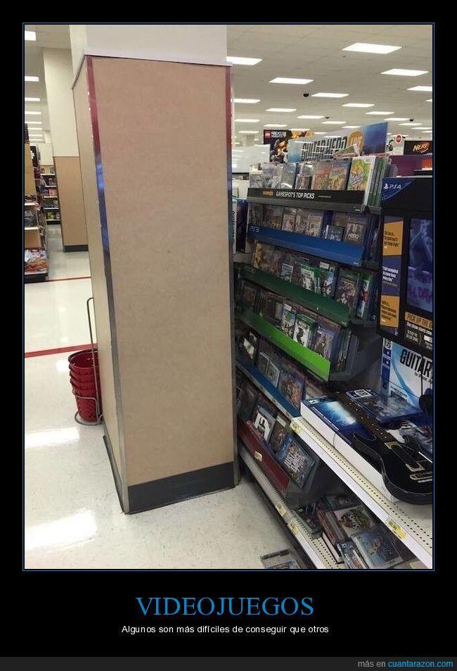 detrás,estanterías,inalcanzables,videojuegos
