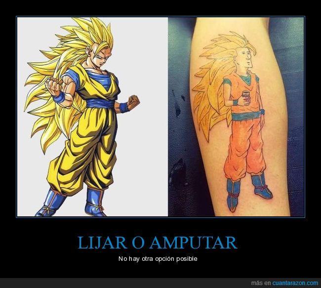 son goku,tatuaje