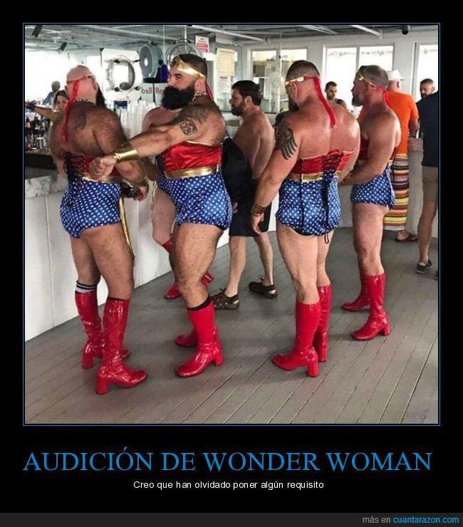 audición,osos,tíos,wonder woman
