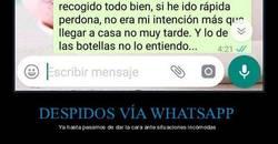 Enlace a Camarera es despedida por whatsapp