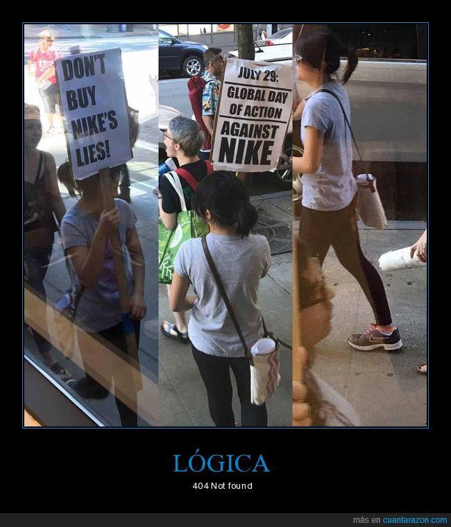 lógica,nike,protestar,zapatillas