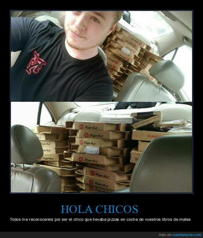 cajas,coche,matemáticas,pizza,transportar