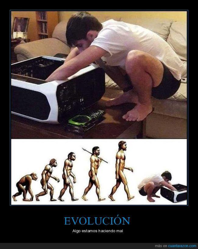 evolución,hombre,ordenador,ser humano