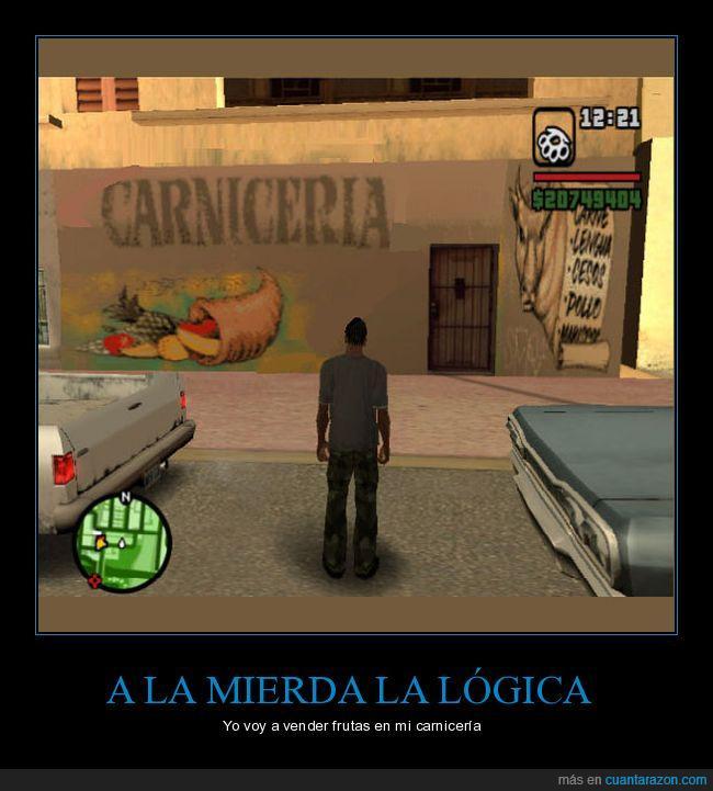 carnicería,cj,frutas,gta san andreas,logica,logo