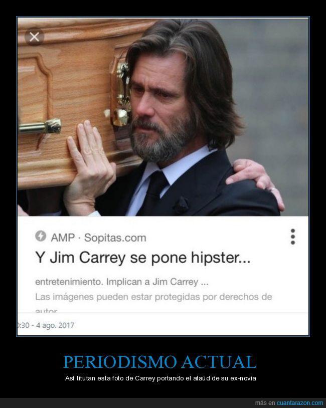 hipster,jim carrey,periodistas,vergüenza
