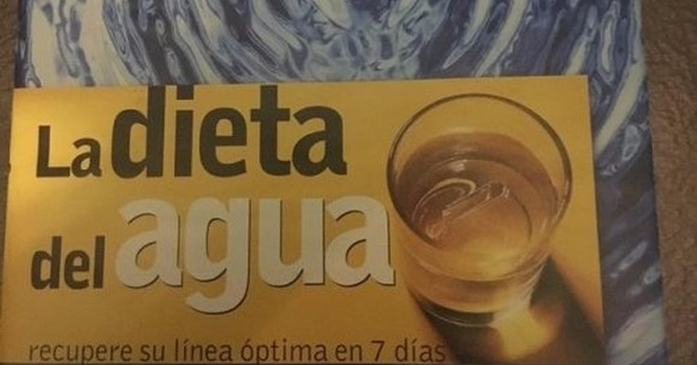 Como es la dieta del agua