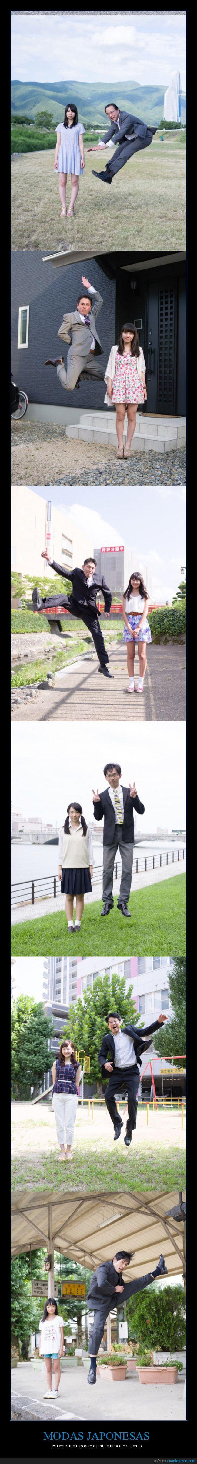 hijas,japon,padres,saltar,salto