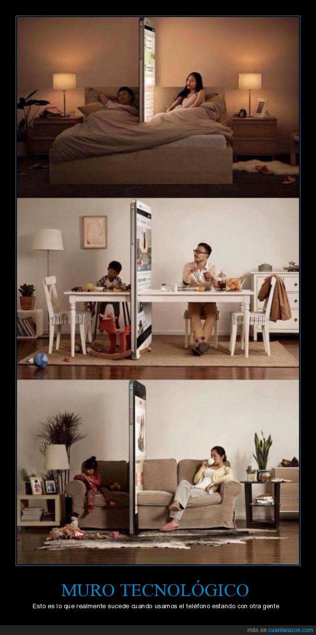 aislamiento,movil,muro,teléfono