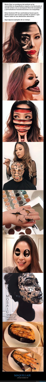 efecto,ilusión óptica,maquillaje