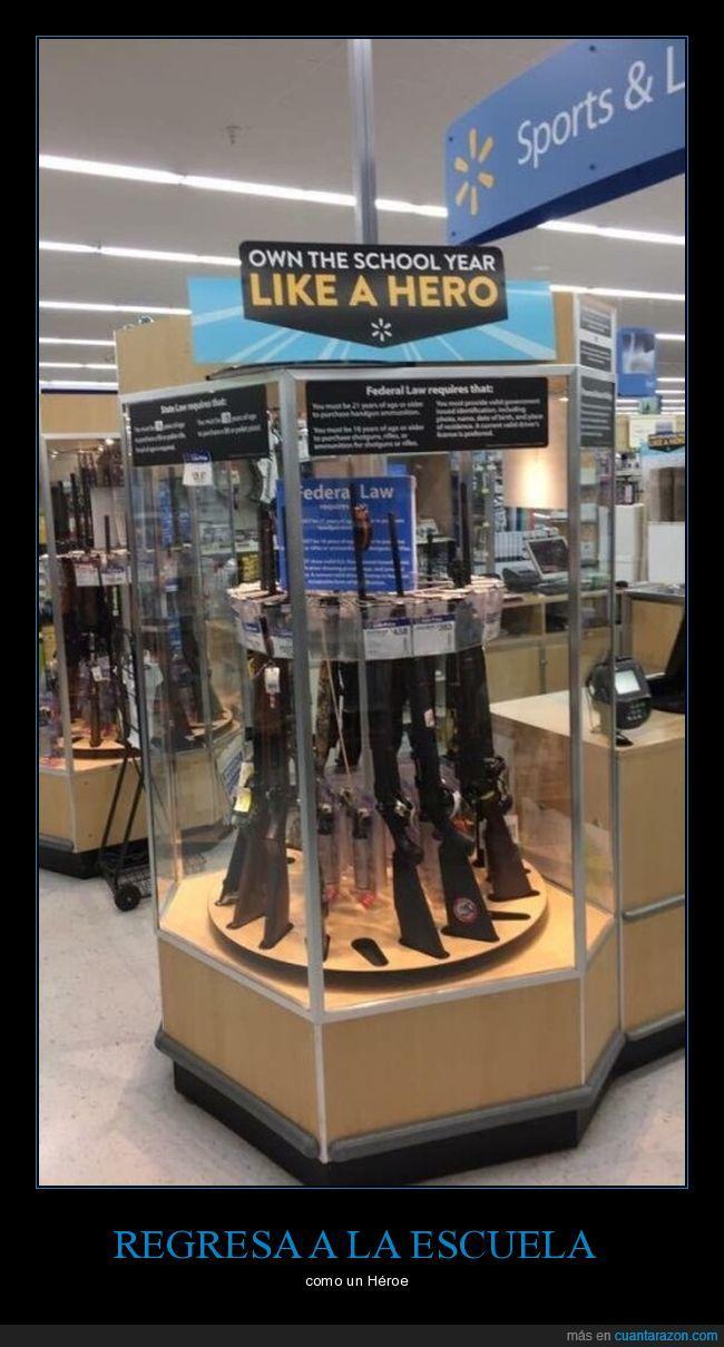 clases,Rifles,vitrina