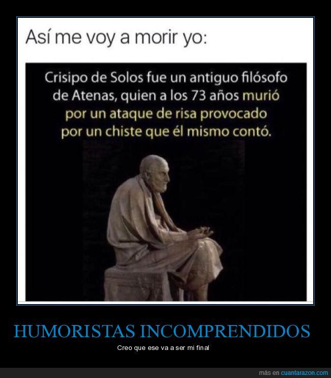 Crisipo de Solos,Filosofo,risa,versión