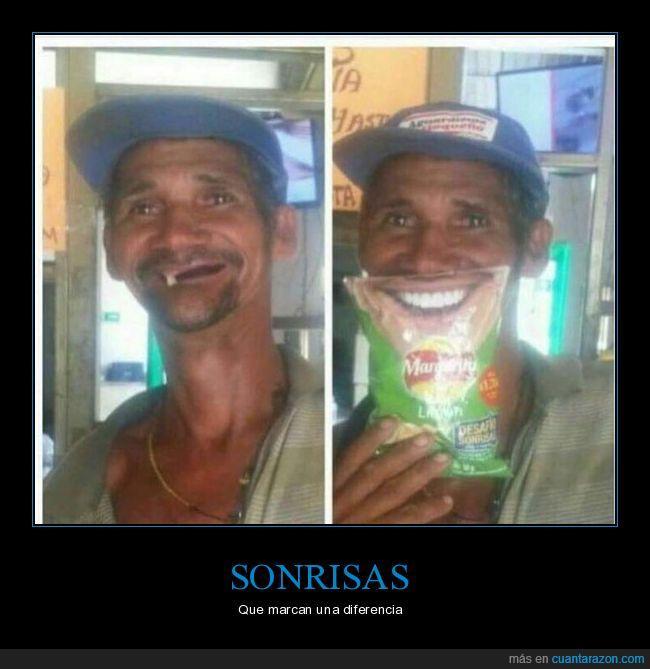 boca,patatas,sonrisa