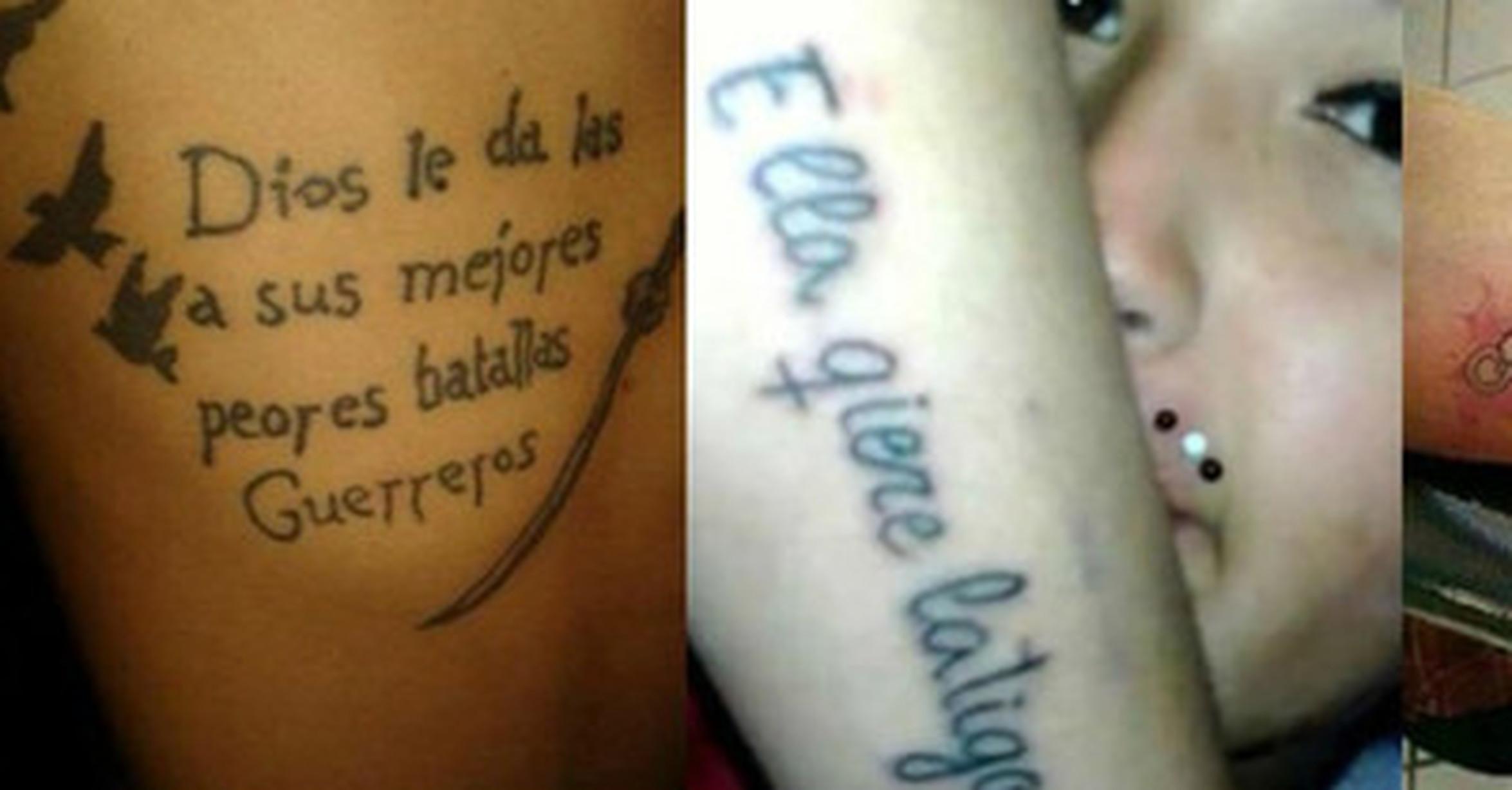 Cuánta Razón Ocho Garrafales Faltas De Ortografía En Tatuajes Que