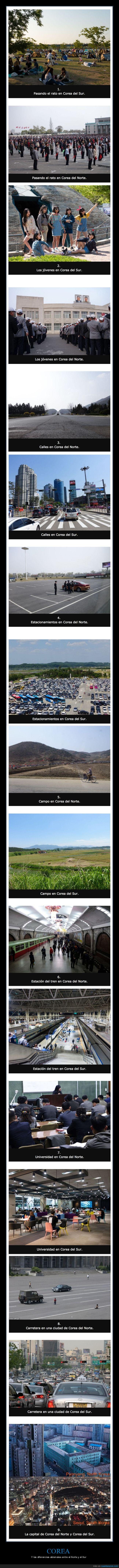 corea del norte,corea del sur,diferencias,korea
