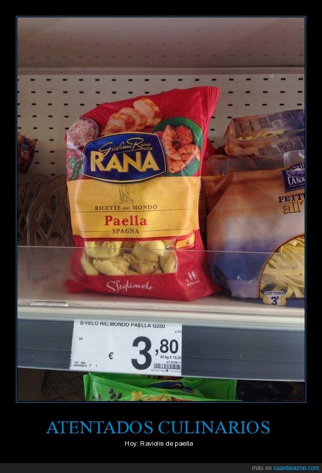 paella,raviolis