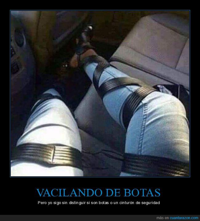 botas,cintas,cinturón de seguridad