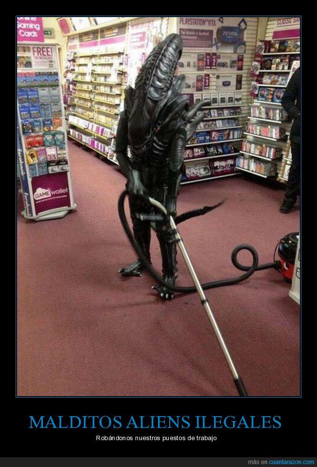 alien,aspiradora,limpieza,tienda