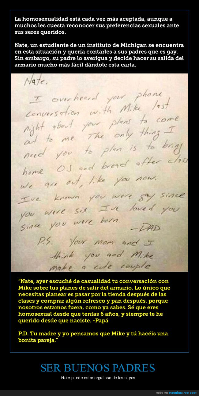 carta,padre,salir del armario