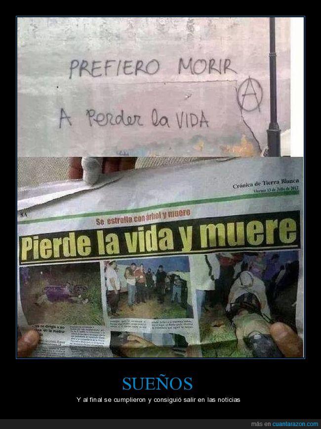 morir,perder la vida,periódico
