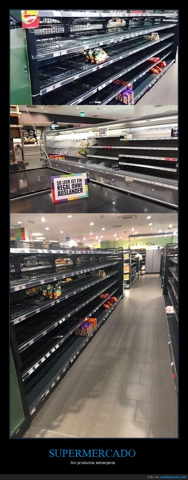 estanterías,productos extranjeros,supermercado