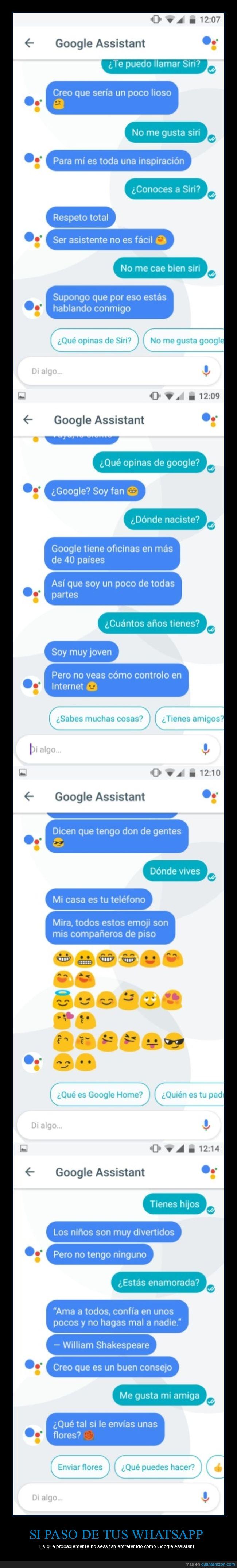 google assistant,siri,whatsapp