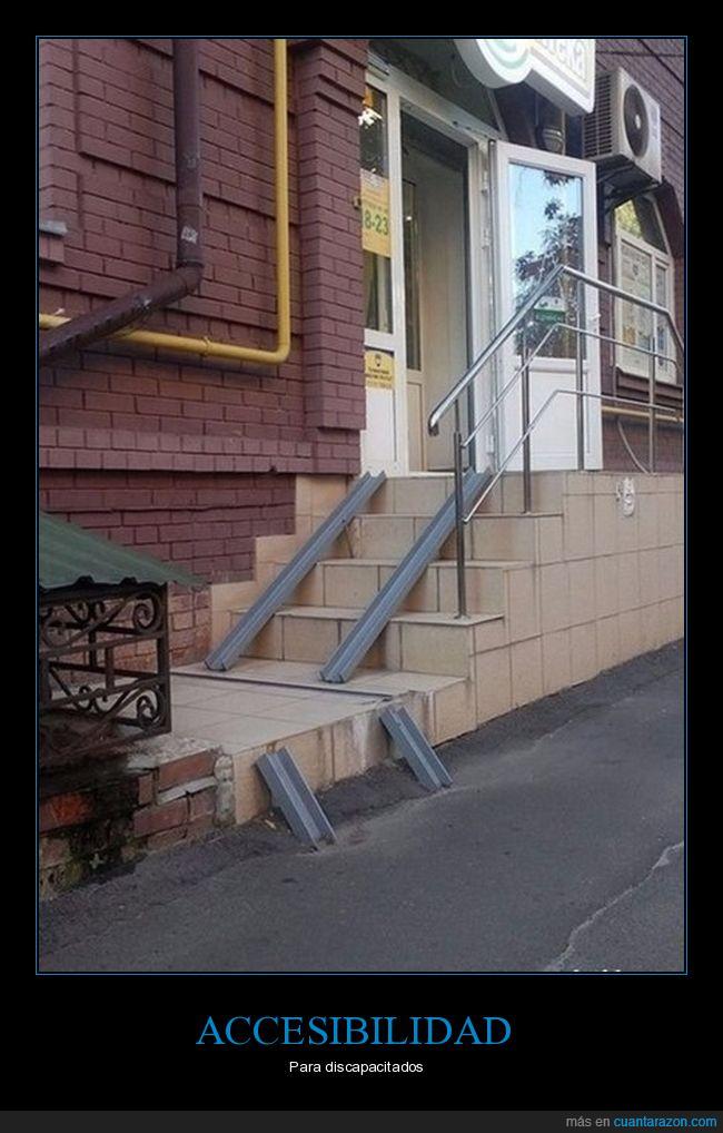 discapacitados,minusválidos,rampas
