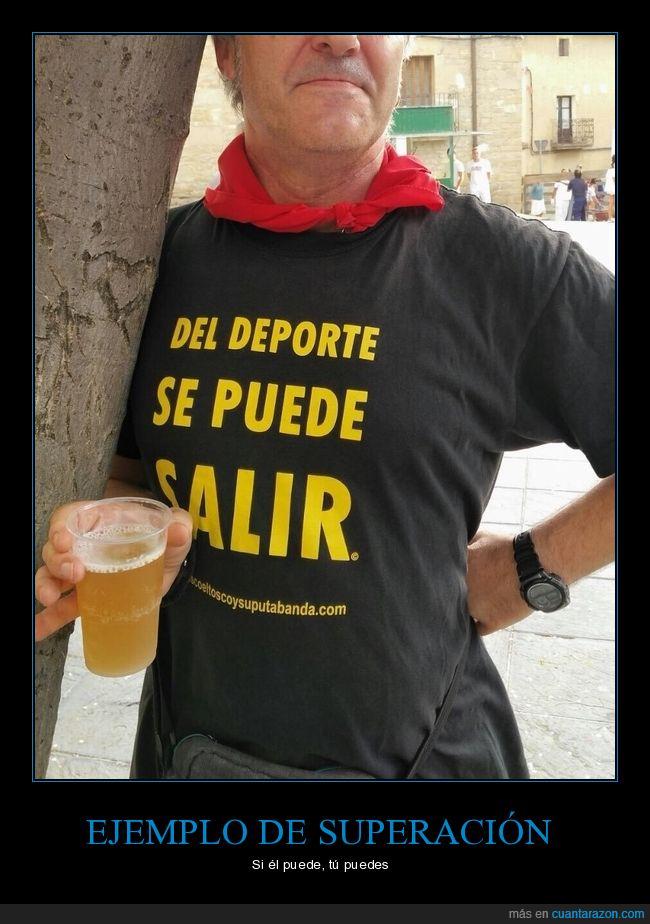beber,camiseta,cerveza,deporte,salir