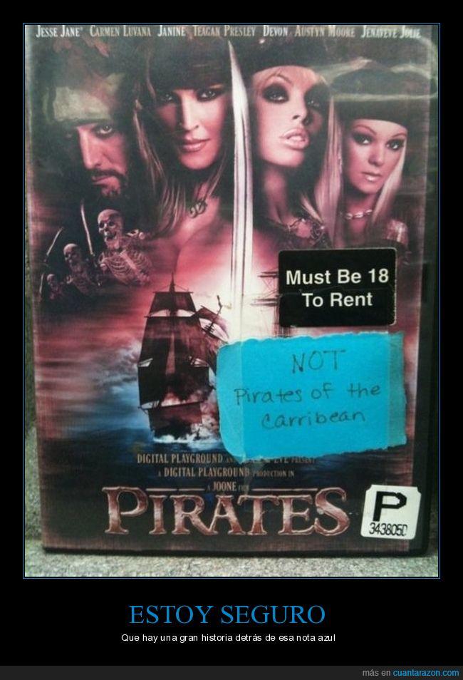 confusión,peli x,piratas del caribe