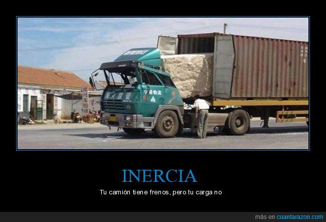 camión,frenos,inercia