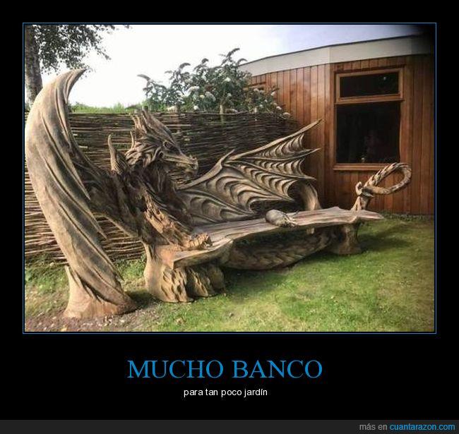 banco,dragón,madera