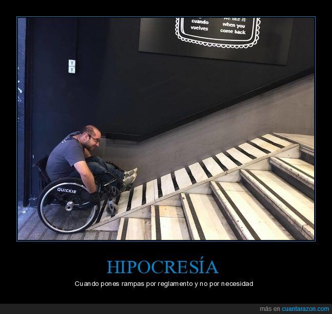discapacitado,necesidad,rampa,reglamento,silla de ruedas