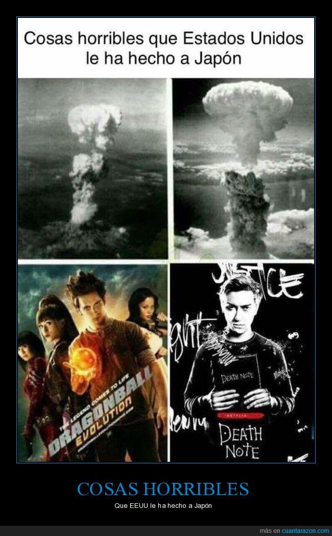 death note,dragonball evolution,películas