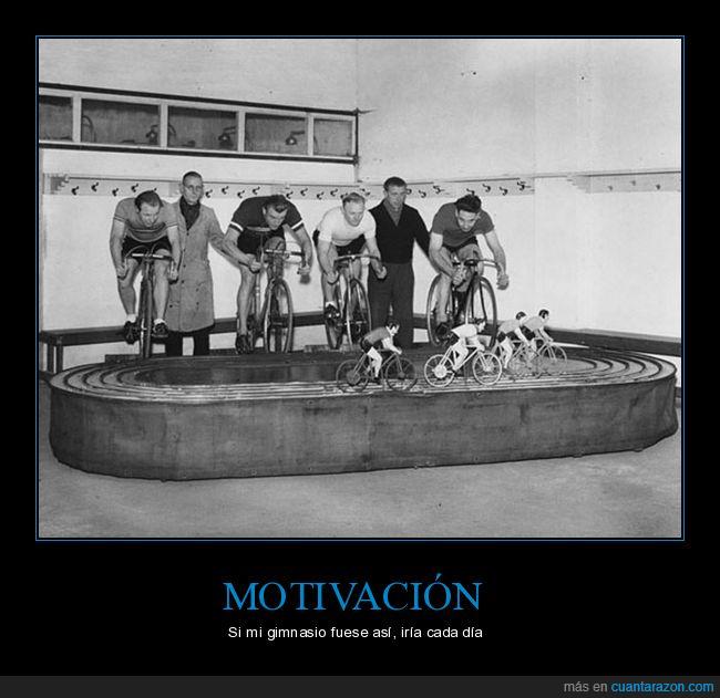 bicicletas,gimnasio,juego