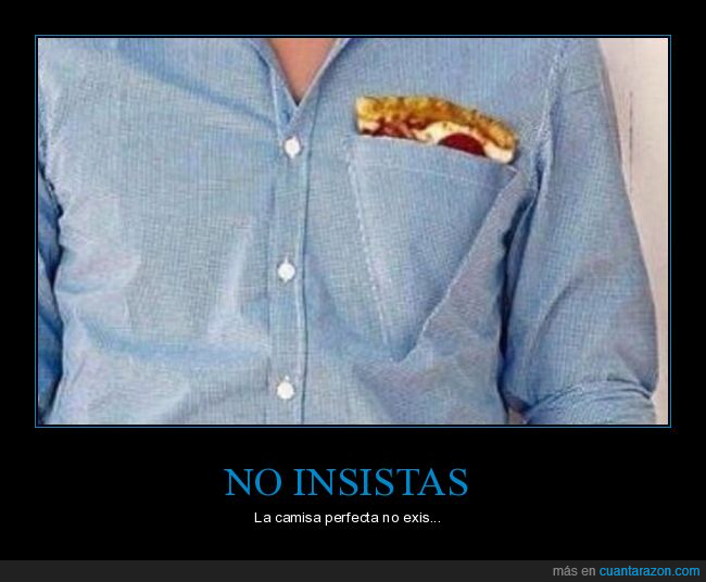 bolsillo,camisa,pizza