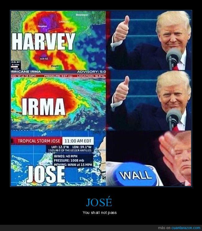 donald trump,harvey,huracán,irma,josé,muro