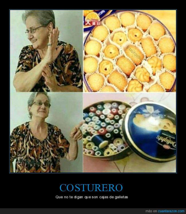 costurero,galletas