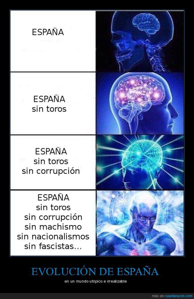 corrupción,España,evolución,religión,supermind,toros