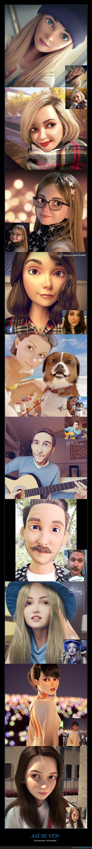 persona,pixar,real,transformación