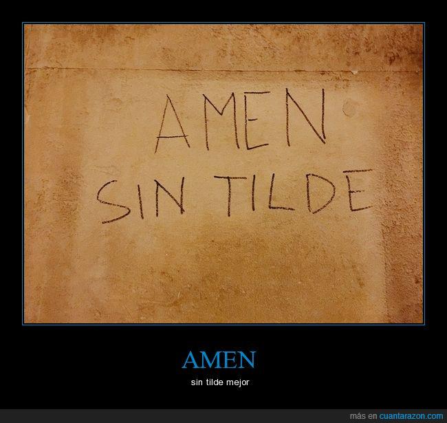 amen,significado,tilde