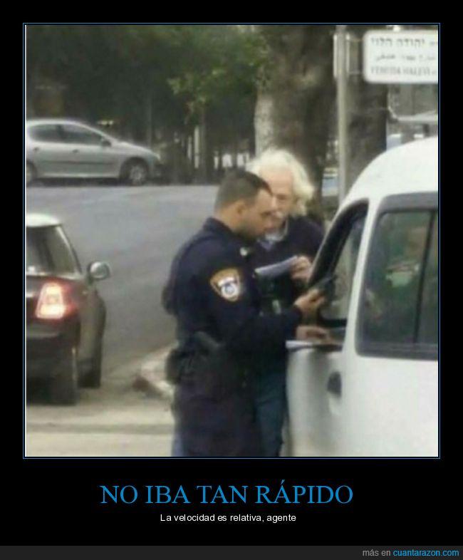 einstein,multa,policía,velocidad