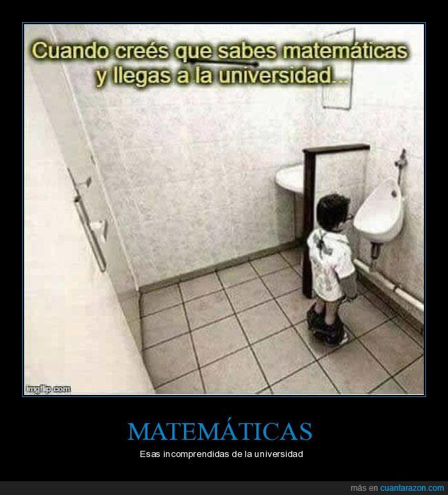 baño,incomprendida,lavabo,matemáticas,nivel,universidad