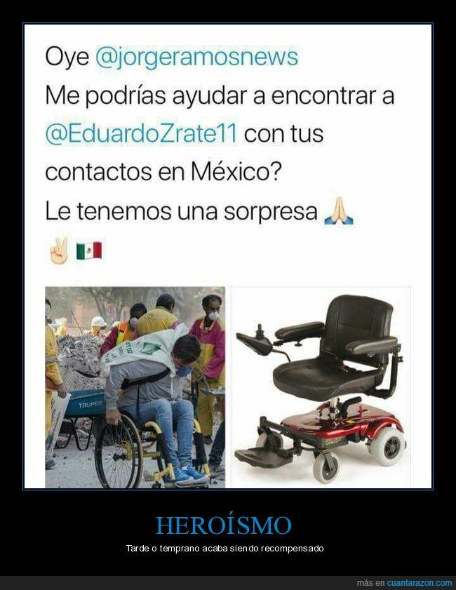 heroismo,México,silla de ruedas