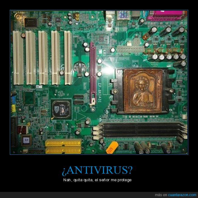 antivirus,Dios,Jesús,placa base,señor