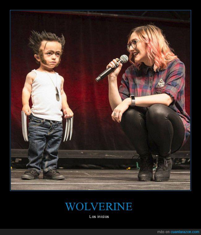 cosplay,lobezno,niño,wolverine
