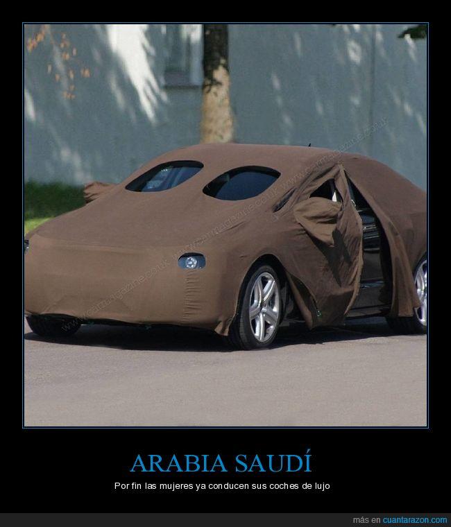 árabes,coches,tapados