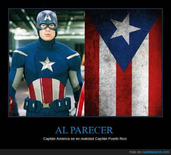 bandera,Capitán América,estrella,Puerto Rico,rayas,traje