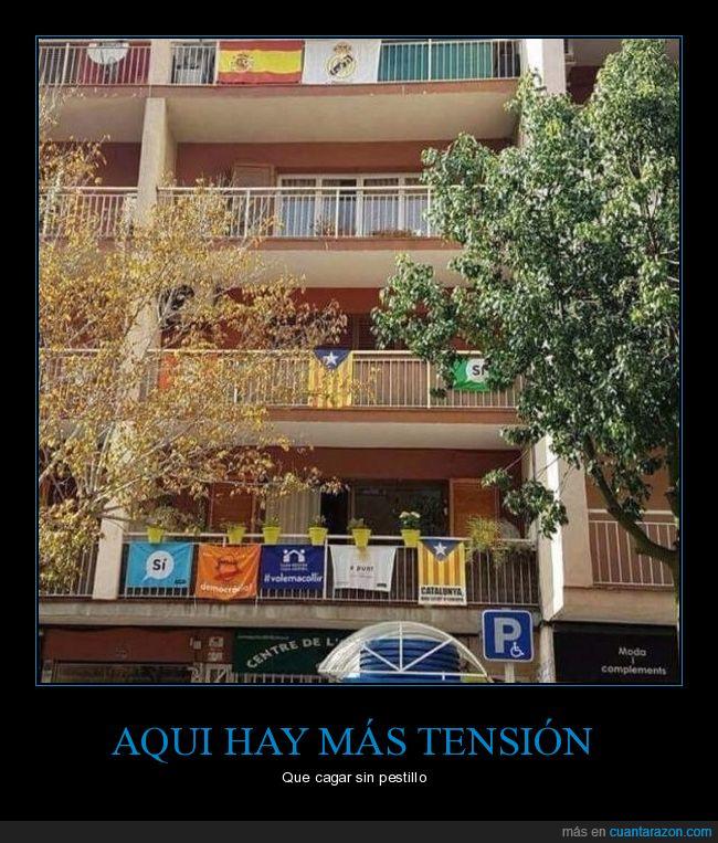 banderas,catalunya,españa,independencia,tensión