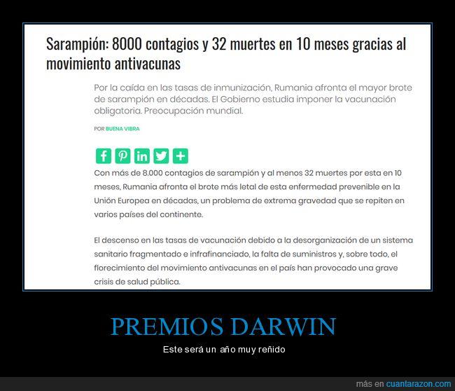 contagios,Darwin,inteligencia,premio