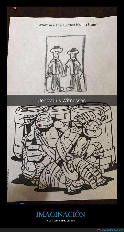 esconderse,testigos de jehová,tortugas